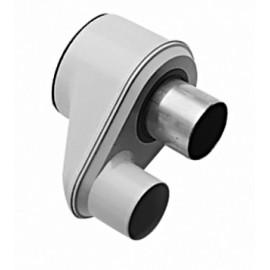 Адаптер для перехода с раздельных труб диам. 80 мм на коаксиальную диам. 125/80 мм, HT Baxi (KHG71409381)